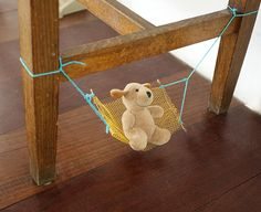 hängematte kuscheltier toy manualidad craft kid kind niño peluche manualidad hamaca hammock