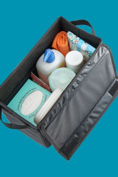 Organize wipes, sanitizers, trash and tissues within easy reach from the driver seat. See these and more car clean-up solutions at www.highroadorganizers.com