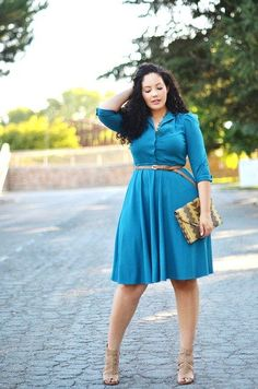 The next couple of style tips for plus size women will look at getting the right fit when it comes to your clothes. Don't be afraid to wear fitted or figure hugging outfits, as it can often emphasize your figure. Avoid wearing baggy clothing as they can swamp your silhouette giving you an even larger appearance.