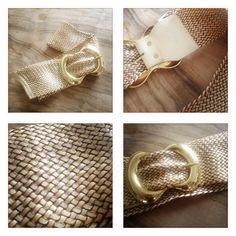 goldi - geflochtener goldig-bronzener gürtel - länge des gürtels ca. 95cm, mit L angeschrieben, von aldo, neuwertig, fr. 7.- (+ porto fr. 2.50)