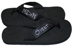 Cheer Mom Bling Flip Flops by PurpleMamaLadybug on Etsy.Hey Danielle, we may need these! Cheer Sister Gifts, Cheer Gifts, Cheer Mom, Cheer Stuff, Cheer Spirit, Spirit Gifts, Bling Flip Flops, Flip Flop Shoes, Cheerleading Crafts