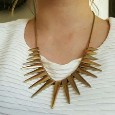 Spikey gold statement necklace Super fabulous. Accessories