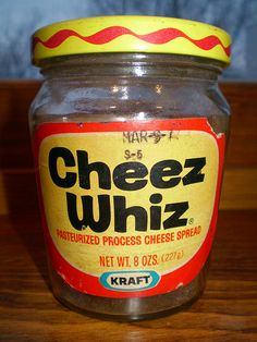 Oh, the joy...right from the jar, on bread, or on a cracker!  Before the texture changed from removing the dreaded transfats and started watching sodium grams!