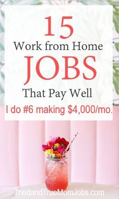 Are you looking for ways to make money from home? Consider these 15 legitimate j.Are you looking for ways to make money from home? Consider these 15 legitimate jobs that pay well from people who are doing it today. There is a succe. Ways To Earn Money, Earn Money From Home, Make Money Fast, Earn Money Online, Online Jobs, Online Careers, Making Money From Home, Online Earning, Ideas To Make Money