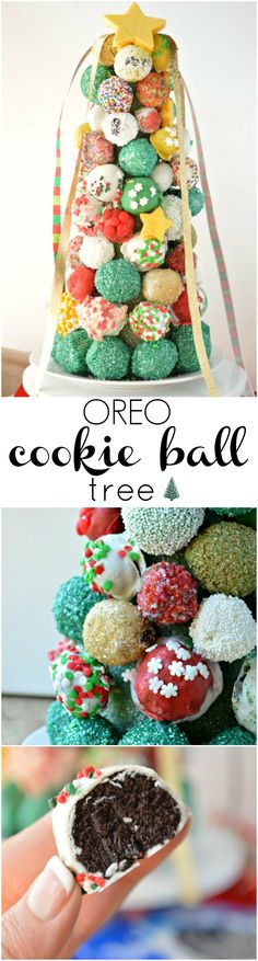 This Oreo Cookie Ball Tree is almost too pretty to eat! Almost. Learn how to make this delicious centerpiece for all your holiday celebrating.