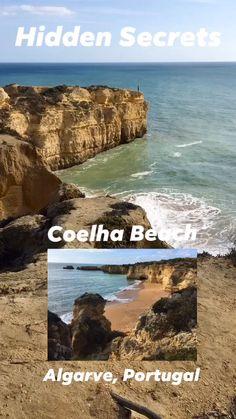 In het midden van de 180 km lange kust van de Algarve in Portugal ligt het prachtige strand van Coelha verscholen tussen de kliffen. Zomers is het een heerlijk strand om te zonnebaden en te zwemmen en in het naseizoen, zoals nu in begin november, kun je je helemaal uitleven met prachtige wandelingen over het strand en over de kliffen.  #Portugal #Algarve #CoelhaBeach #Overwinteren #ZoninWinter #WinterEscape Algarve, Portugal, Dutch, Water, Travel, Outdoor, Gripe Water, Outdoors, Viajes