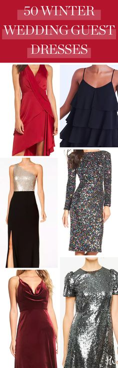 d90ec00f23 50 Perfect Dresses You Could Wear to That Winter Wedding That s Been  Stressing You Out. Wedding Guest StyleNext ...