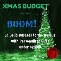 Find gifts for under $20.00 at www.Dian.labellabaskets.com