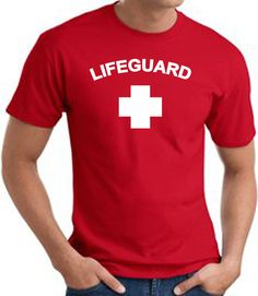 Lifeguard T-shirt LifeGuard T-shirts This Lifeguard T-shirt will be the envy of everyone on the beach. An awesome 100% cotton Tee shirt. Image size is