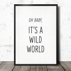 Oh Baby, it's a wild world A4 de george koenig sur DaWanda.com