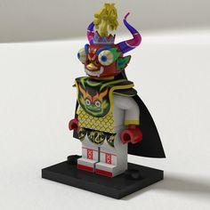 "Lego figurine dressed as ""Diablada Puneña"" - Peru"