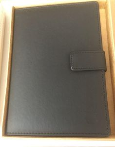 $25 2016 From Apple Store center at Cupertino New Apple Computer Notebook 8 X 8.5  Black Logo Macintosh New Sealed Box Atf