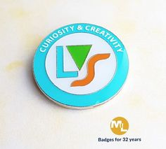 badge with 5 white overprinted thought provoking statements. Name Badges, Pin Badges, Make Your Own Badge, Custom Badges, Lululemon Logo, Thought Provoking, Charity, Logos, Create