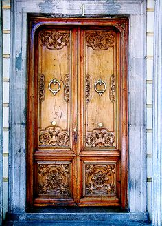 Granada, Andalucia antique wooden doors