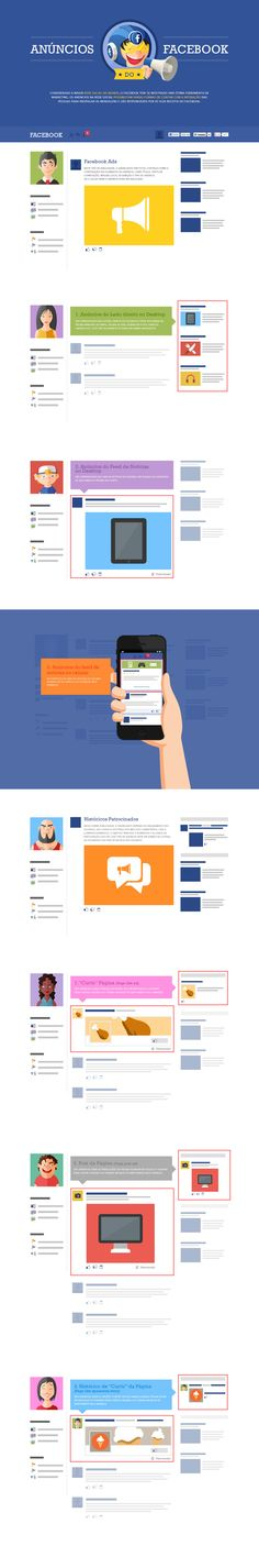 Great example of an informational one pager that helps people better understand a 3rd party product while pitching it's (middleman) service. This one pager by Agência Mestre is a useful resource showcasing all the types of Facebook ads, sizes and rules. An English translation switcher for the landing page would be a great addition guys!