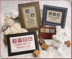 Lizzie Kate Baby 152 Counted Cross Stitch Pattern Chart