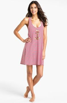 Sperry Top-Sider® Stripe Knit Cover-Up Dress | Nordstrom