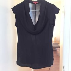 Black Cowl Neck Great blouse to dress up or down. Nice accents and details around the neck, sleeve and hem. Worn once! Brand is One September Anthropologie Tops