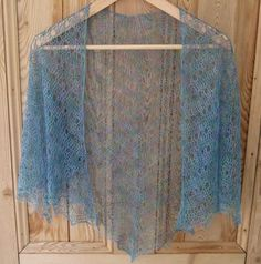 This free crochet shawl pattern, designed by Milobo, is a laceweight (lightweight) design that is worked top-down...... so delicate looking.... very pretty!!! :0)