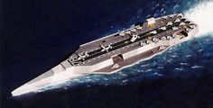 future aircraft carrier concepts | Proposed CVN Concept 1:800, (future stealth carrier)