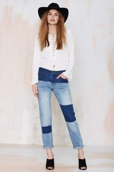 Courtshop Shadow Boyfriend Jean - Denim | Newly Added |  | Denim | $68 Denim