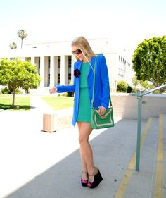 Anna of Fash Boulevard carrying her namesake Color Block Bag | available at Frock Candy http://su.pr/6wh1hz