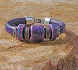 Plum Regaliz™ Leather Bracelet found @antelopebeads.com