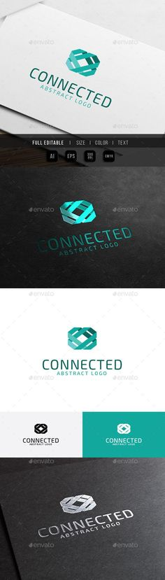 Abstract Connect - Link Technology Logo Template Vector EPS, AI #design #logotype Download: