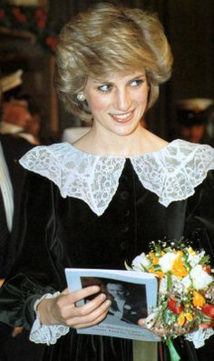 December 20, 1983: Princess Diana, patron of the Malcolm Sargent Cancer Fund for Children accompanied by Prince Charles attend a Carol Concert in aid of the fund at the Free Trade Hall, Manchester.