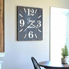 Large Square Wood Clock