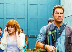 Owen hearing about Hoskins wanting to use his raptors Jurassic World