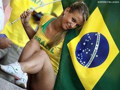 brazil football - girl fan