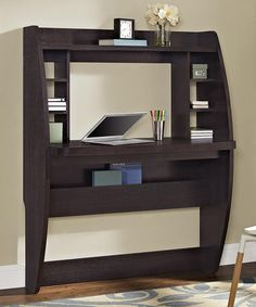 Another great find on #zulily! Espresso Jace Wall-Mounted Desk #zulilyfinds