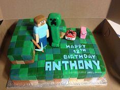12th birthday minecraft cake
