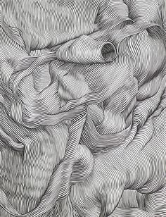 Pin by famenitcha t. on illustration / draw arte lineas, arte lineal, arte gráfico Op Art, Art Graphique, Elements Of Art, Aesthetic Art, Doodle Art, Art Drawings, Contour Drawings, Cross Contour Line Drawing, Contour Line Art