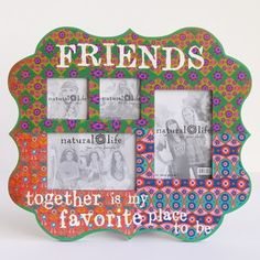 Friends Indie Print Multiple Photo Wood Frame