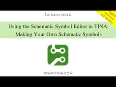 Using TINA's Schematic Symbol Editor, you can create new schematic symbols so that you can add your own circuit components to TINA.  To create new symbols, you place lines, arcs, rectangles, and arbitrary characters with any fonts, specifying line-width, color, and area color fills.  After drawing the symbol, you add and define connections to it. www.tina.com