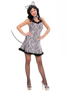 Zebra kjole - BlikfangsKostumer.dk