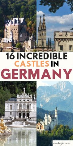 Most beautiful castles in Germany #travel #europetravel #germany #castles