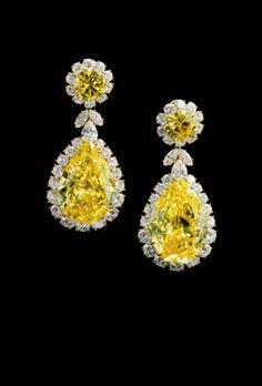 Graff Yellow and White Diamond earrings.