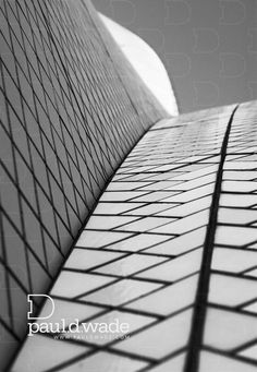 Tiles III - Detail of tiles on the roof of the Opera House in Sydney - Architecture / Detail / Abstract / Black and White / Monotone