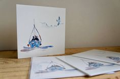 Some of my latest cards now for sale on my Etsy shop! Inspired by Cornish fishing! Watercolor Design, Fishing Boats, Seaside, Original Paintings, My Etsy Shop, Greeting Cards, Inspired, Drawings, Artist