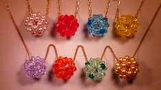 Colgante Pentabola Swarovski Beaded Ball Pendant Tutorial