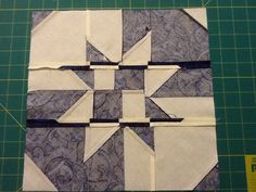disappearing hourglass. Pressing the seams. From the Quilting Board