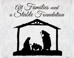 A Pocket full of LDS prints: All Families need a Stable Foundation - Free Christmas print