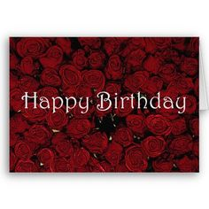 Red Roses Birthday Card