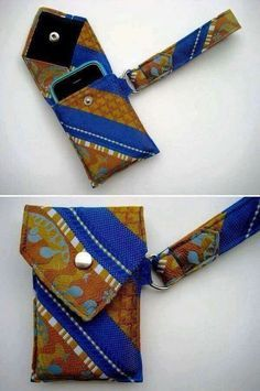 One Girl's Adventures in Thrifting: Necktie Mother-lode: a necktie upcycling tutorial Sewing Hacks, Sewing Tutorials, Sewing Patterns, Tutorial Sewing, Fabric Crafts, Sewing Crafts, Sewing Projects, Sewing Diy, Mens Ties Crafts