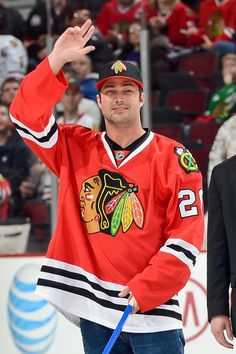 Taylor Kinney. Swoon. Watch the Chicago Fire star shoot the puck at the UC!