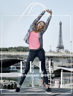 Ellesport Elle UK magazine advert performance running Parisian sports