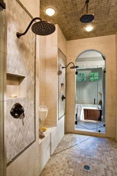 Love how the whole room is a shower....i think i would live in this room!